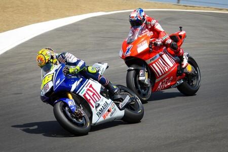 Rossi Stoner Laguna Seca Motogp 2008