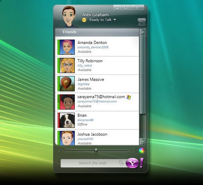 Yahoo Messenger Beta para Windows Vista