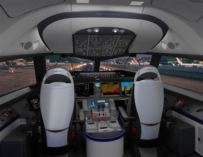 Boeing 787 Dreamliner Cockpit Photo
