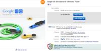 Una entrada para Google I/O acaba en eBay