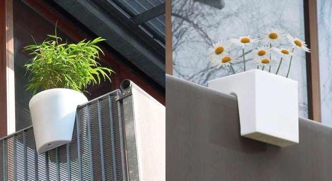 Macetas que se colocan en las barandillas - Maceteros para terrazas ...
