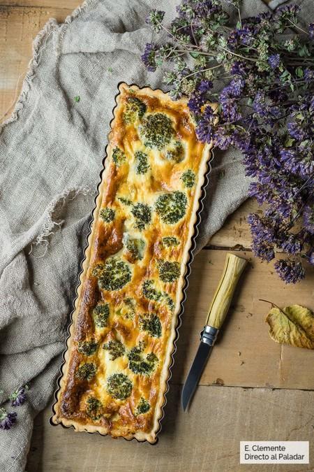 Quiche de brócoli y queso tetilla. Receta