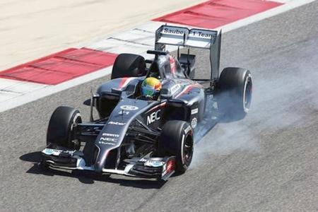 Esteban Gutiérrez confesó que el problema de su C33 son los frenos