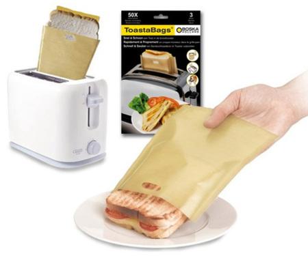 Toasta Bags: bolsas para hacer sandwiches calientes en la tostadora