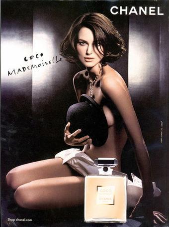 Keira Knightley sustituye a Kate Moss en la publicidad de Chanel, con falso pecho