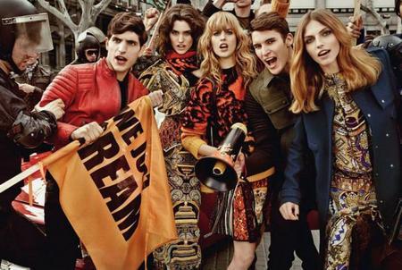 Just Cavalli se inspira en las manifestaciones y hace su campaña en Barcelona