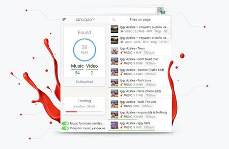 Skyload: una extensión para descargar audio y vídeo de casi cualquier sitio web