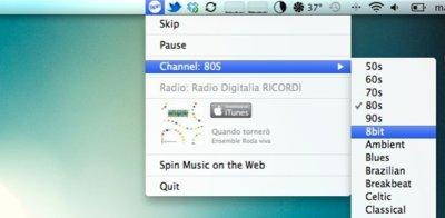 Spin, música vía streaming clasificada por generos