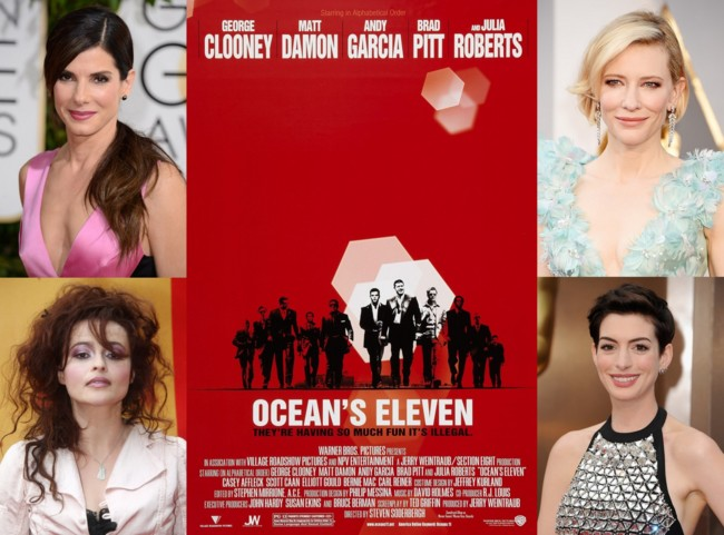 Sandra Bullock, Cate Blanchett, Helena Bonham Carter y Anne Hathaway