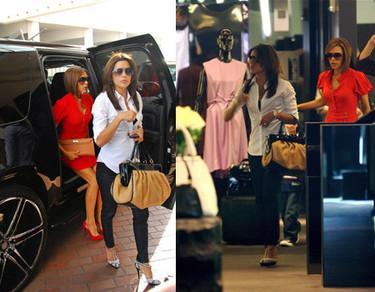 Victoria Bekcham y Eva Longoria de compras por Beverly Hills