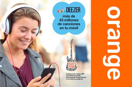 Orange redobla su apuesta por la música, ahora con Deezer por 4,99 euros