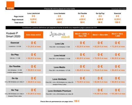 Precios Huawei P Smart 2020 Con Pago A Plazos Y Tarifas Orange
