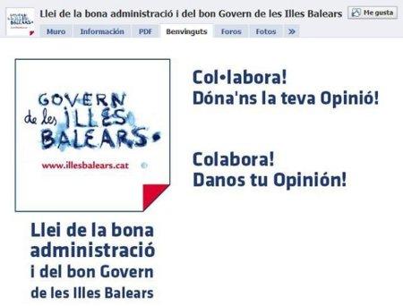 El Gobierno de Baleares abre una consulta en Facebook para elaborar una ley