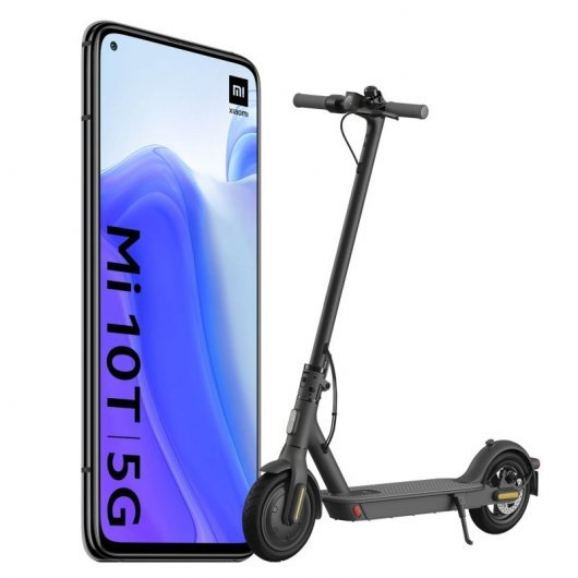 Xiaomi Pack Mi 10T 5G 6/128GB Negro + Mi Electric Scooter Essential