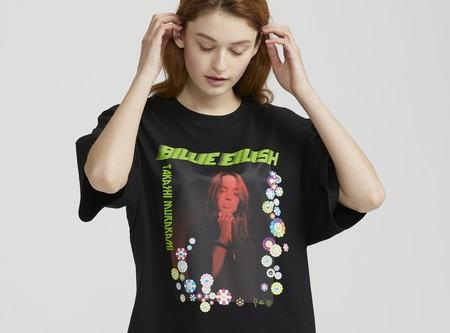 Los fans de Billie Eilish amarán la nueva colección de camisetas de Uniqlo, diseñadas por la cantante y Murakami