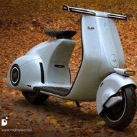 No es real, pero este diseño nos hace soñar con el renacimiento de la incombustible Vespa 98 de 1946