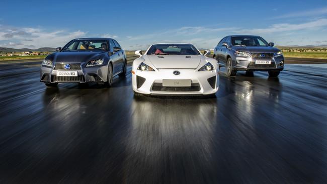 Lexus GS 450h F Sport, LFA y RX 450h F Sport