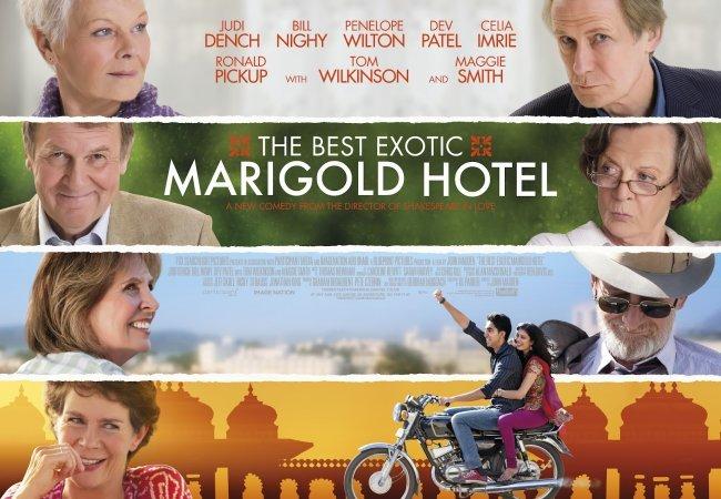 El cartel de El Exótico Hotel Marigold