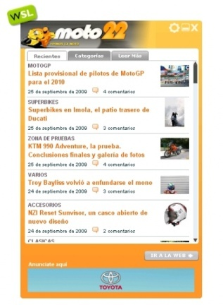 Moto22 y todo Weblogs SL en tu escritorio