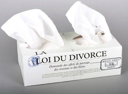 La caja de pañuelos del divorcio