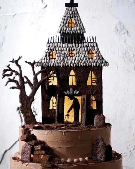 Halloween. Tarta Casa Encantada