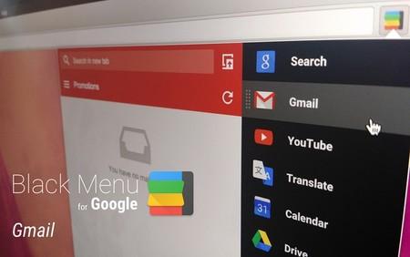 Black Menu For Google Opera