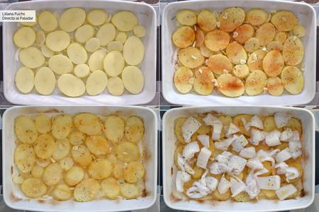 Sepia al horno con patatas. Pasos
