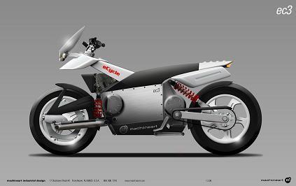 eCycle y Machineart desarrollan la moto verde
