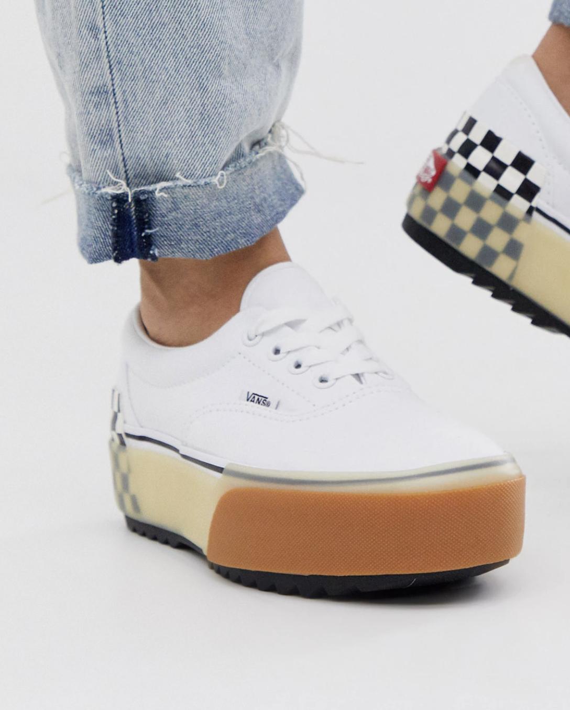 Zapatillas blancas con suela laminada Era de Vans