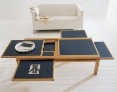 Mesas de café con espacio adicional