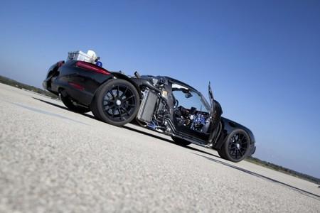 Porsche 918 Spyder sin paneles de carrocería