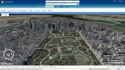 Mapas en 3D de Live Search Maps