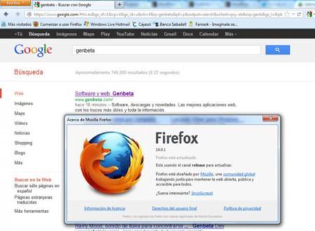 Firefox 14 ya disponible con HTTPS por defecto en las búsquedas de Google y mejoras en la interfaz