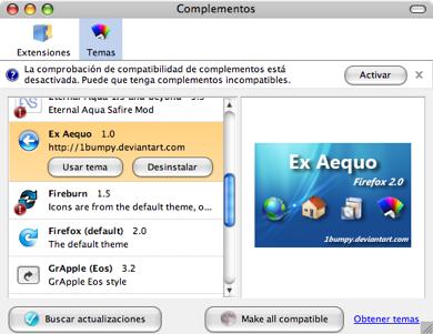 Ex Aequo tema estilo Vista para Firefox