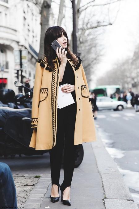 Paris Fashion Week Fall Winter 2015 Street Style Pfw Miroslava Duma Vita Kin Coat 2 790x1185