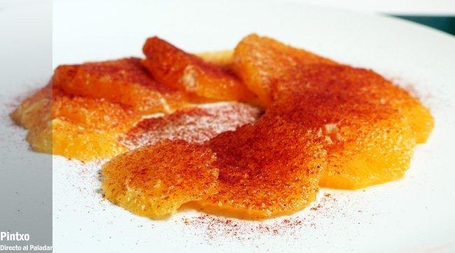 Naranjas con pimentón dulce y comino. Receta