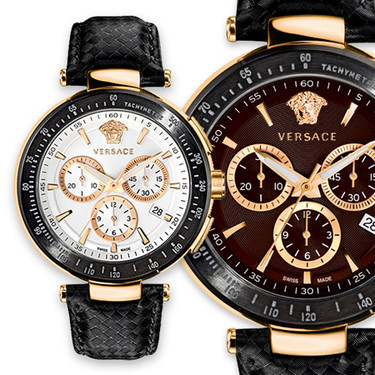 Versace y sus nuevos relojes: hay que ir pensando en los regalos del Día del Padre