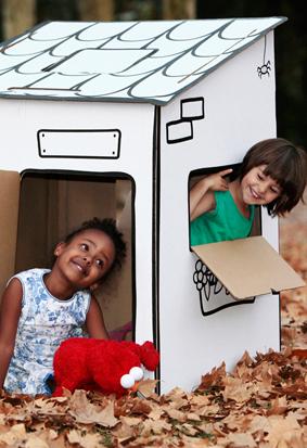 En Paparajote lovemade encontraréis casitas y pizarras de cartón reciclado