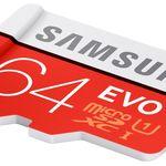 Tarjeta de memoria MicroSD de 64GB Samsung EVO+ por 18,20 euros