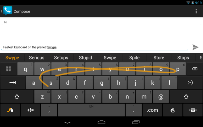 Swype Tablet Horizontal Large