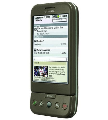 T-Mobile G1 recibe su primera actualización de seguridad