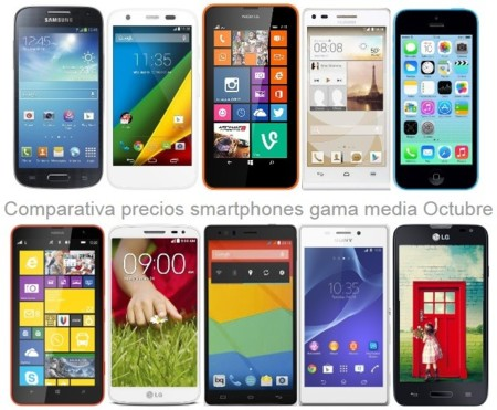 ¿Buscas smartphone de gama media o baja? Estos son los precios que encontrarás en octubre