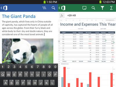 Microsoft Office para Android ya está disponible, pero solo para smartphones en EE.UU.
