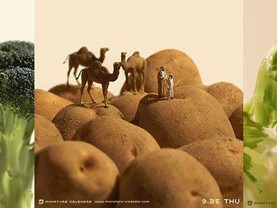 'Miniature calendar', de Tatsuya Tanaka, un fabuloso mundo en miniatura que nos sorprende cada día