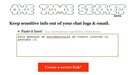 Envía información de forma confidencial con One Time Secret