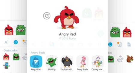 Skype se llena de personajes de Angry Birds