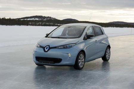 Renault ZOE electrico nieve