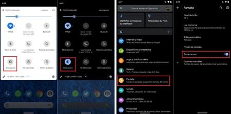 Android 10 Activar Modo Oscuro