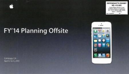 Tres diapositivas mostradas en el juicio de patentes contra Samsung pueden definir el iPhone del 2014