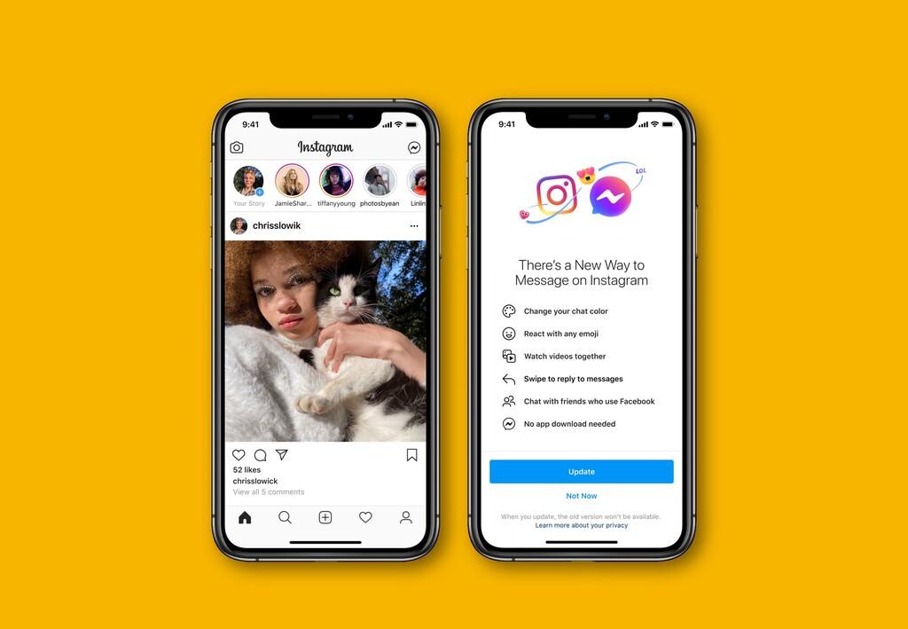 Facebook unifica oficialmente Messenger y los mensajes de Instagram: el primer paso para la fusión de sus apps de mensajería